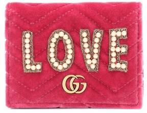 Gucci GG Marmont velvet wallet