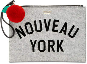Kate Spade Nouveau York Bella Medium Pouch - LIGHT CHARCOAL - STYLE