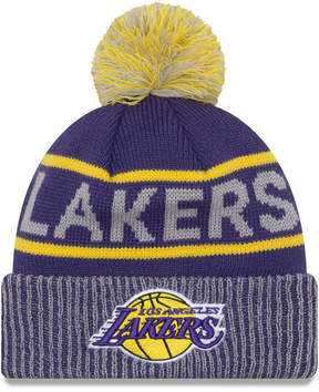 New Era Los Angeles Lakers Court Force Pom Knit Hat