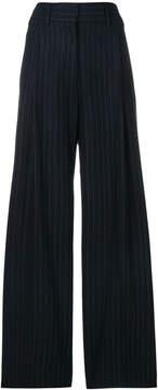 Alberto Biani pinstripe wide leg trousers
