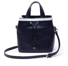 Lacoste Women's Break Point Colorblock Leather Bucket Bag