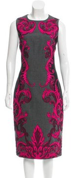 Andrew Gn Embroidered Midi Dress w/ Tags