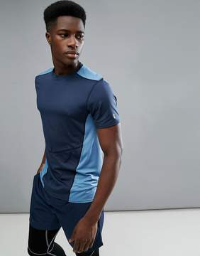 New Look SPORT T-Shirt With Color Block In Navy