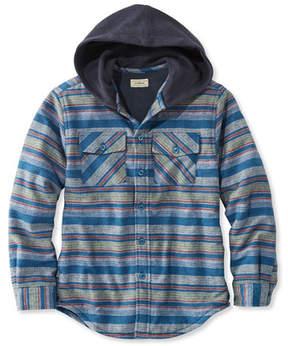 L.L. Bean Boys' Fleece-Lined Hooded Flannel Shirt