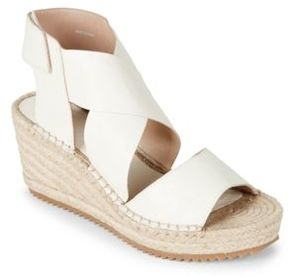 Eileen Fisher Willow Leather Platform Sandal