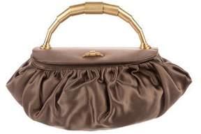 Barneys New York Barney's New York Pleated Satin Handle Bag