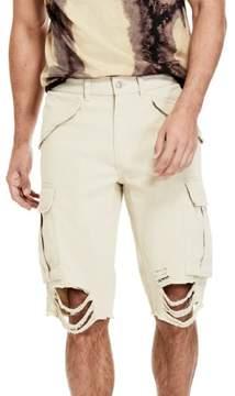 GUESS Men's Carter Destroyed Cargo Shorts