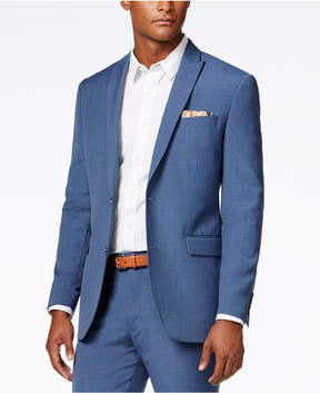 Bar III Men's Dusty Blue Solid Slim-Fit Jacket, Created for Macy's
