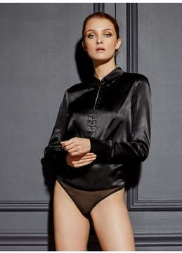 Fleur Du Mal | Hook-Up Bodysuit | L | Black