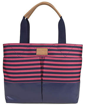 Nautica Modern Trail Shopper - Coral & Navy Stripe