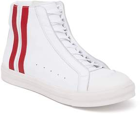 Alexander McQueen Men's Side Stripe High-Top Sneakers