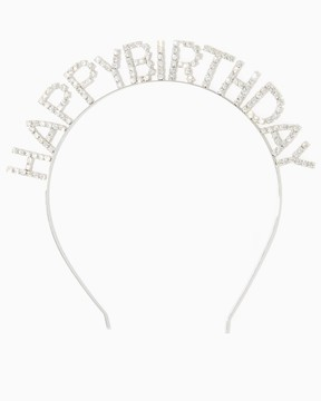 Rhinestone Happy Birthday Headband