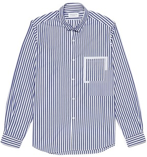 TOMORROWLAND Patchwork panel stripe shirt