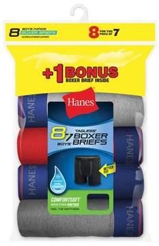 Hanes Boys' ComfortFlex Waistband Boxer Briefs, 7 + 1 Bonus Pack
