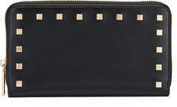 Neiman Marcus Smooth Studded Continental Wallet
