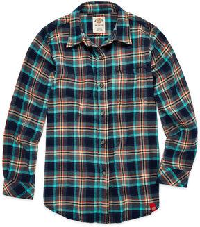 Dickies Girls Long Sleeve Flannel Shirt Girl's 7-16