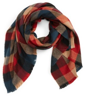 BP Women's Checkered Oblong Scarf