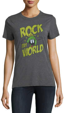David Lerner Rock My World Marvin the Martian Graphic Tee