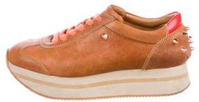 Ruthie Davis Joggie Leather Sneakers