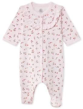 Petit Bateau Baby girls printed sleeper