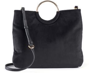 Lauren Conrad Runway Collection Celeste Velvet Ring Crossbody Bag