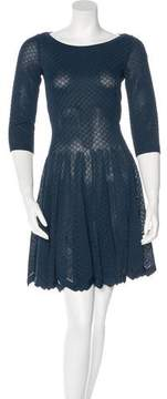 Alaia Embroidered Fit and Flare Dress w/ Tags