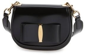 Salvatore Ferragamo Vara Leather Crossbody Bag - Black