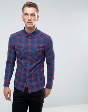 Celio Plaid Flannel Shirt