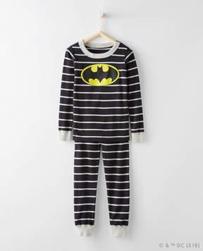 Hanna Andersson JUSTICE LEAGUE BATMAN Long John Pajamas In Organic Cotton