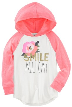 Osh Kosh Girls 4-12 Smile All Day Hooded Tunic Top