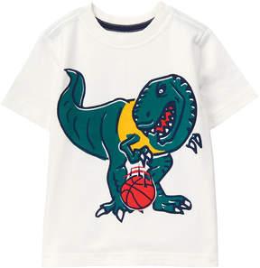 Gymboree White Dino Basketball Tee - Infant & Toddler