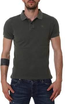 Blauer Men's Green Cotton Polo Shirt.