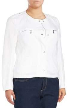 Basler Long-Sleeve Zip-Front Jacket