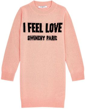 Givenchy I Feel Love Motif Sweater Dress