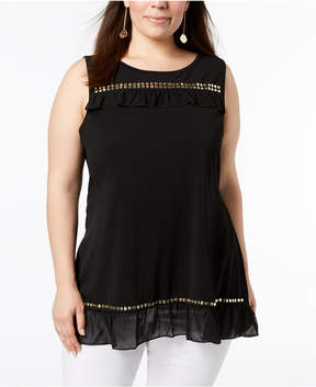 Belldini Plus Size Embellished Tunic Top