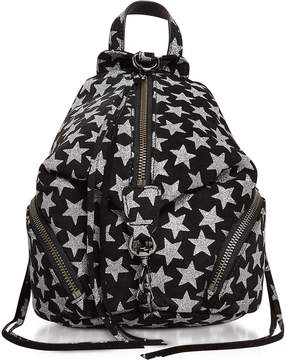 Rebecca Minkoff Black Leather Convertible Mini Julian Backpack w/Stars - ONE COLOR - STYLE