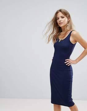 Brave Soul Ribby Midi Dress