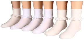 Jefferies Socks Eyelet Lace and Chantilly Lace 6-Pack (Toddler/Little Kid/Big Kid)