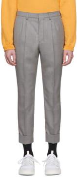 Ami Alexandre Mattiussi Grey Wool Carrot Fit Trousers