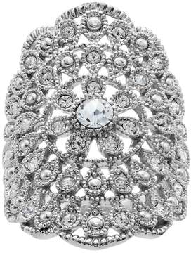 Brilliance+ Brilliance Flower Scalloped Ring with Swarovski Crystals