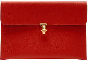 Alexander McQueen Red Small Skull Envelope Clutch