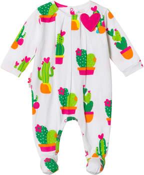 Agatha Ruiz De La Prada White Cactus Print Babygrow