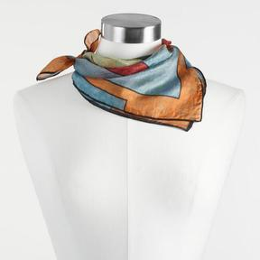 World Market Colorblock Silk Kerchief Scarf