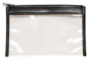 Jil Sander Leather-Trimmed Zip Pouch