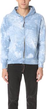 Remi Relief Tie Dye Fleece Zip Hoodie