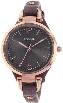 Fossil ES3077 Women's Georgia Brown Leather Watch