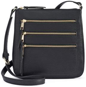 Apt. 9 Robin Triple Zipper Crossbody Bag
