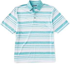 Roundtree & Yorke Performance Big & Tall Short-Sleeve Striped Polo