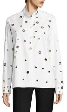 Each X Other Grommet Cotton Poplin Shirt