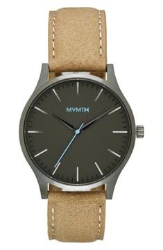 MVMT Men's Leather Strap Watch, 40Mm